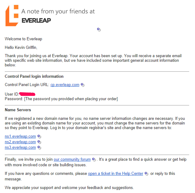 Everleap Welcome Email