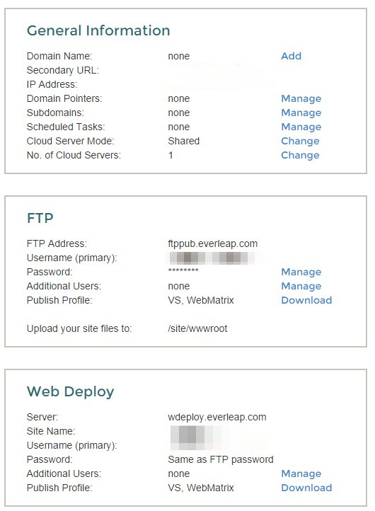 FTP and Web Deploy