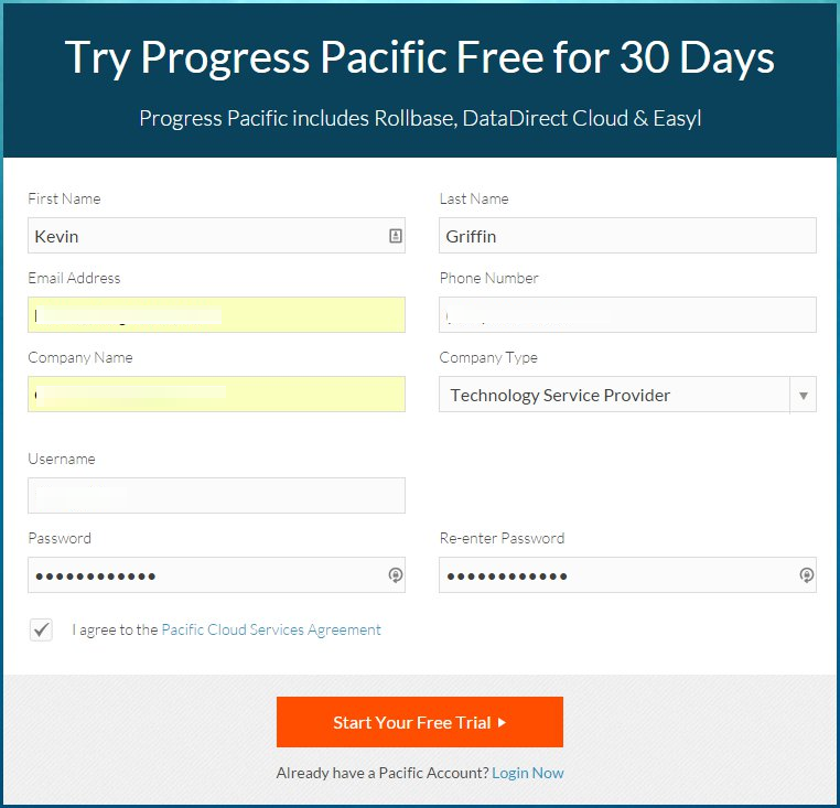 Try Progress Rollbase and other tools for 30 days